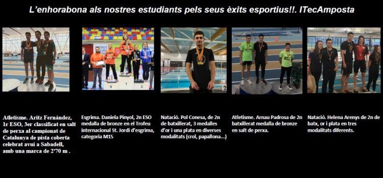 Èxits esportius iTec. Moltes felicitats als nostres esportistes pel seu treball i esforç