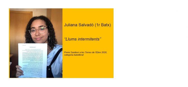 iTec, amb Juliana Salvadó (1r bat), guanya el premi Sambori en categoria batxillerat.